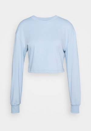Botanical dyed top - Langærmede T-shirts - light blue