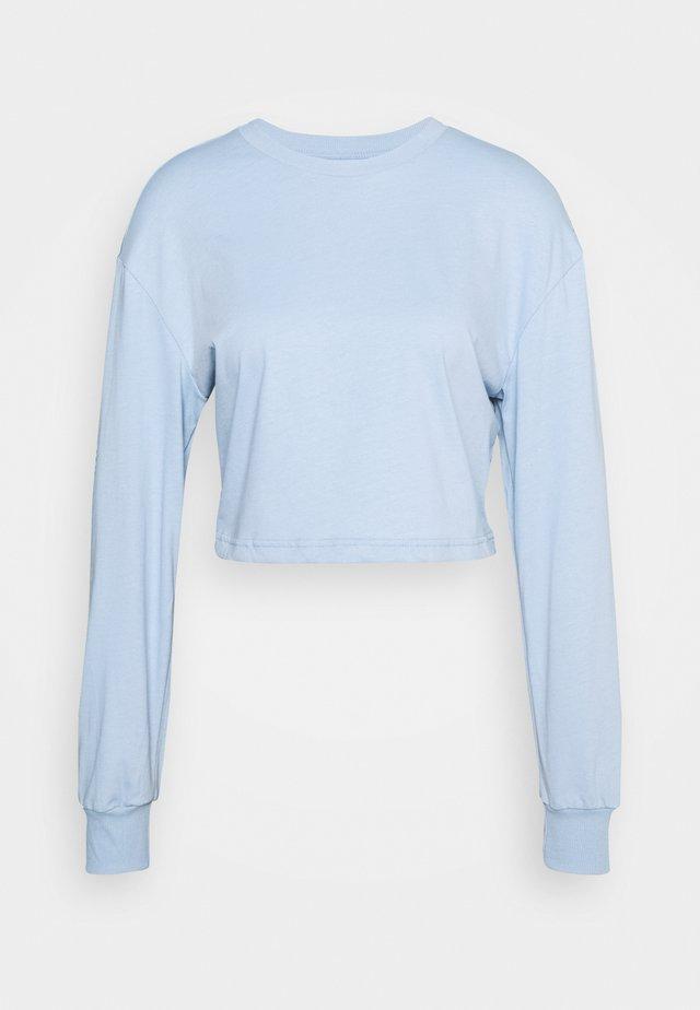 Botanical dyed top - Langarmshirt - light blue