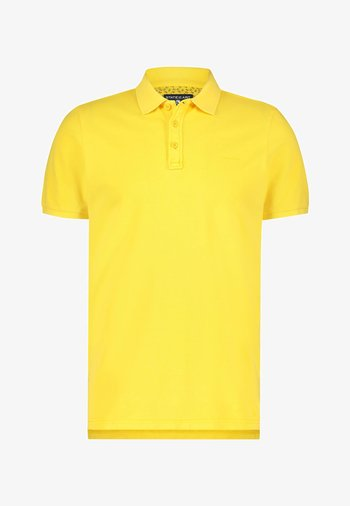 REGULAR FIT - Polo shirt - light-yellow plain