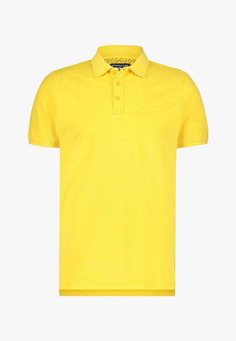 State of Art - REGULAR FIT - Polo shirt - light-yellow plain