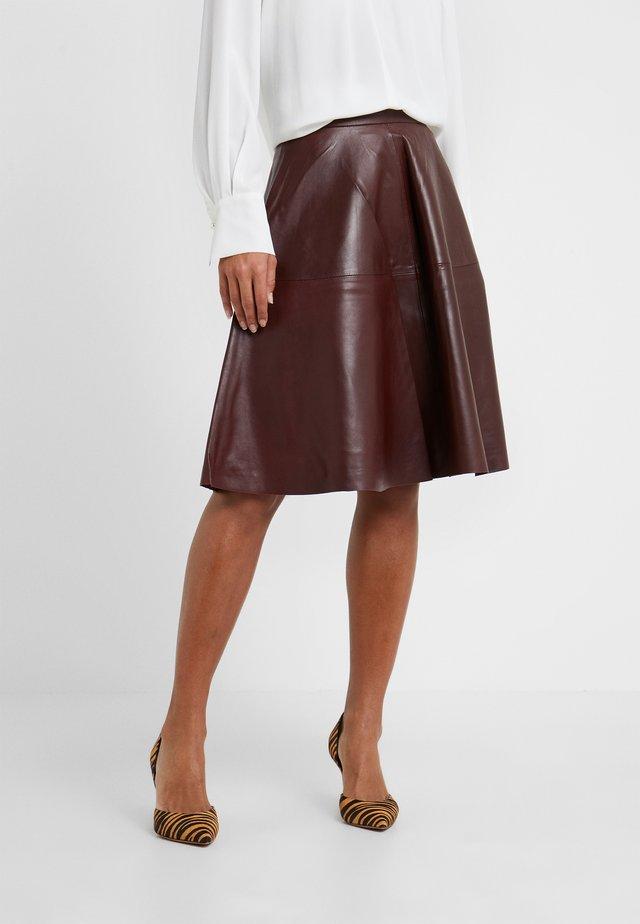 TESSA SKIRT - A-linjainen hame - reddish brown