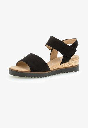 Wedge sandals - schwarz (kork)