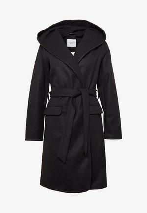 JDYOVIDA LONG HOOD JACKET - Short coat - black