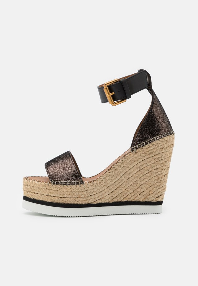 Sandalias de tacón - diamond/olivo/natural/nero