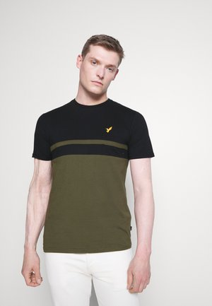 T-shirt print - black/olive