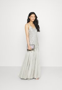 Maya Deluxe - DELICATE SEQUIN FISHTAIL MAXI DRESS - Společenské šaty - soft grey - 1