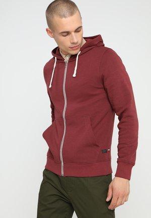 Zip-up sweatshirt - port