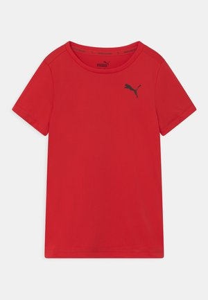 ACTIVE SMALL LOGO UNISEX - Print T-shirt - high risk red