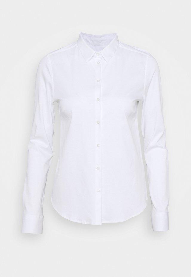 TINA - Button-down blouse - white