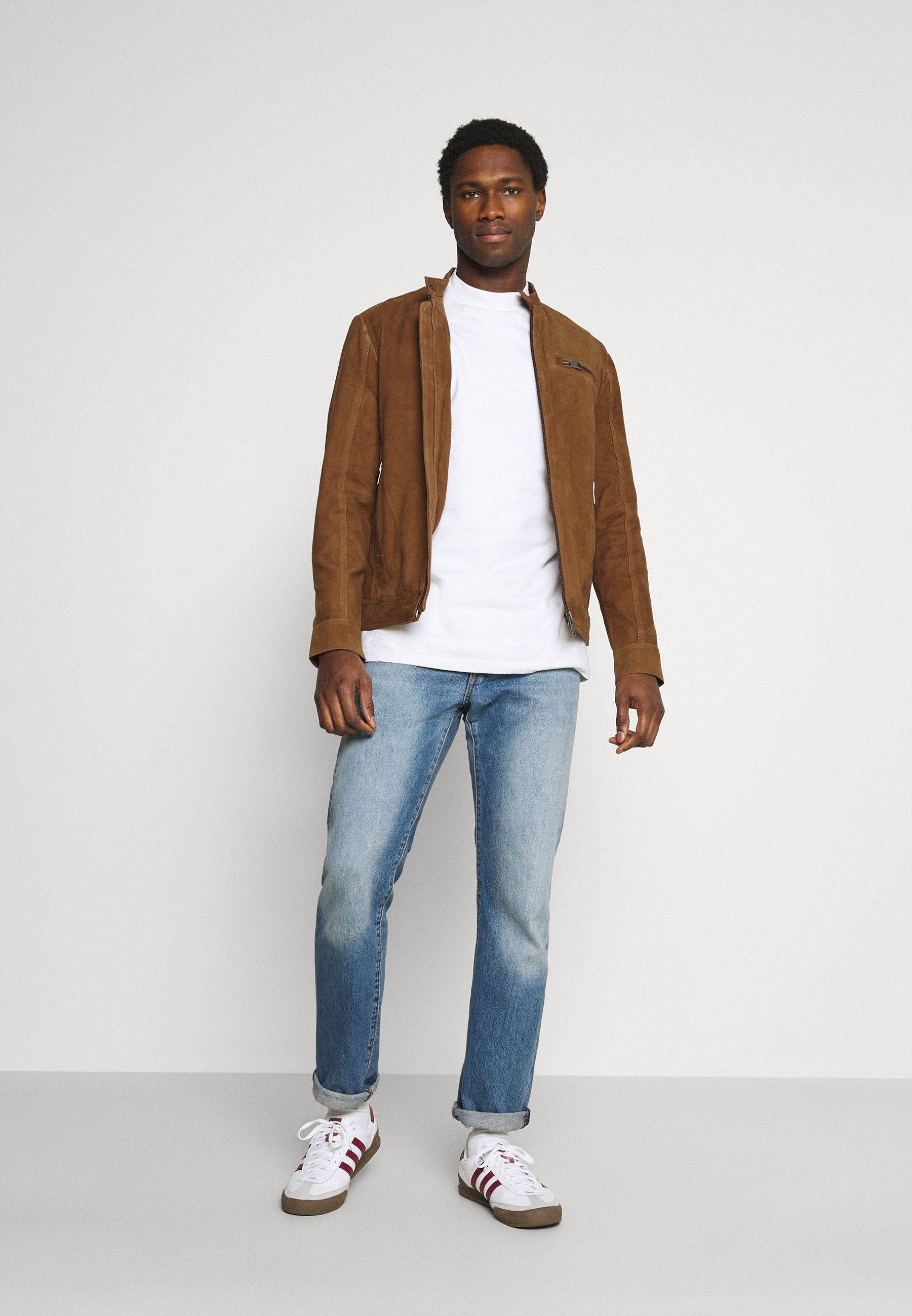 Men SLHICONIC - Leather jacket