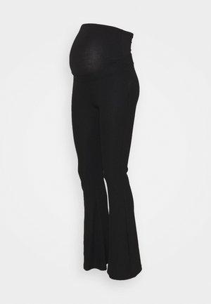 OLMNELLA FLARED PANT - Spodnie materiałowe - black