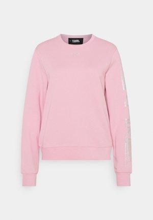 RHINESTONE LOGO - Sweatshirt - pink