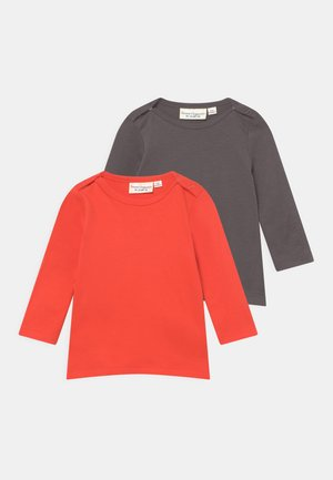 LUNA BABY 2 PACK - Longsleeve - red/anthracite