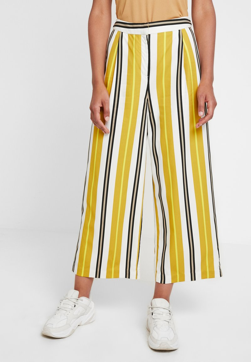 Monki - MALINKA TROUSERS - Kalhoty - yellow medium/sporty mustard