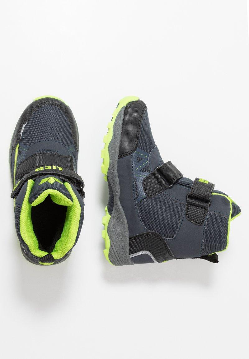 LICO - AINO - Winter boots - marine/schwarz/lemon
