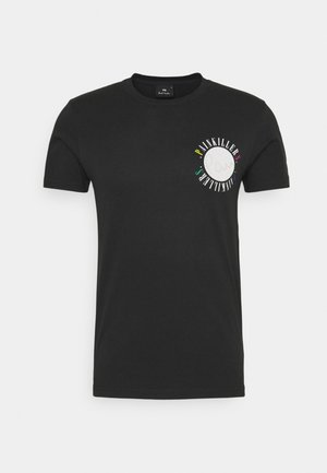 MENS SLIM FIT PAINKILLERS - T-shirt z nadrukiem - black