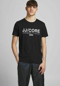 Jack & Jones - Print T-shirt - black - 0