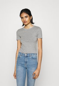 Topshop - EVERYDAY TEE 3 PACK - Print T-shirt - black/white/grey - 4
