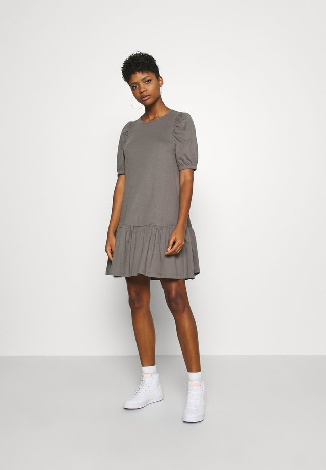 ONLANNY 2/4 PUFF DRESS - Jersey dress - dark grey