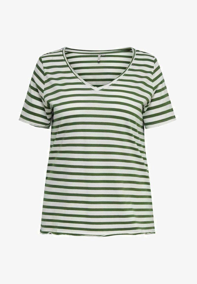 ONLY Carmakoma - CURVY - Print T-shirt - cloud dancer