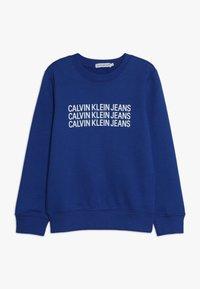 Calvin Klein Jeans - TRIPLE LOGO - Sweater - blue - 0