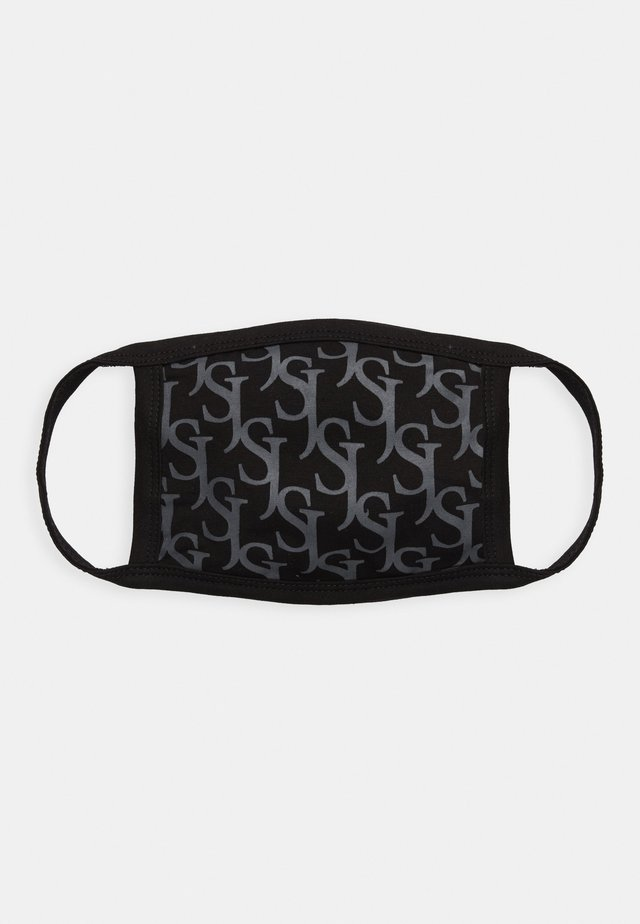 ALL OVER MONOGRAM FACE MASK - Munnbind i tøy - black