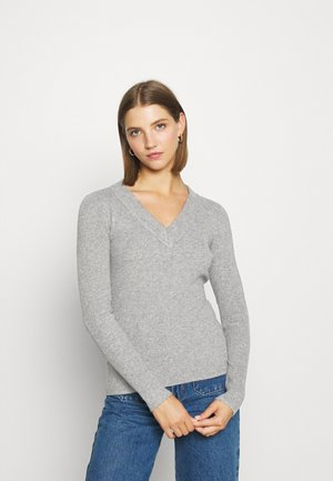 OBJFAE THESS - Jumper - medium grey melange