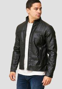 INDICODE JEANS - BROOK - Faux leather jacket - black - 3