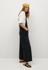 Mango - Dungarees - black denim - 2