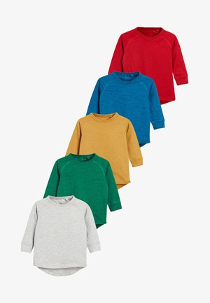5 PACK  - Camiseta de manga larga - red/blue/mottled grey