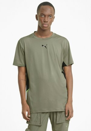 VENT - T-shirt con stampa - vetiver-puma black
