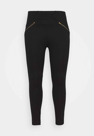 ZIP DETAIL SHAPER - Leggings - Trousers - black