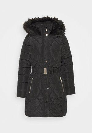 LONG PUFFER COAT - Płaszcz zimowy - black