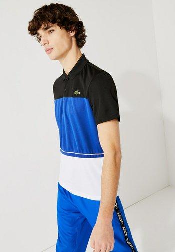 TENNIS BLOCK - Poloshirt - noir / bleu / blanc