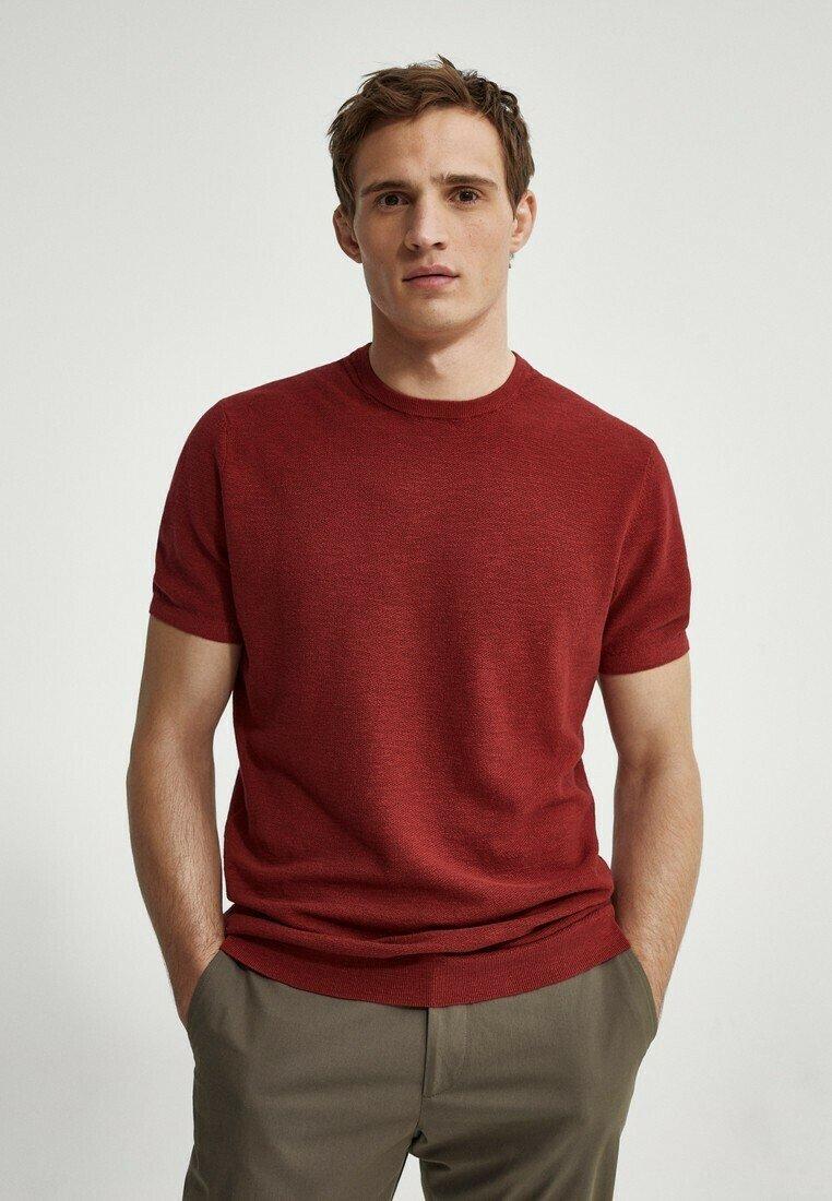 Massimo Dutti - Basic T-shirt - red