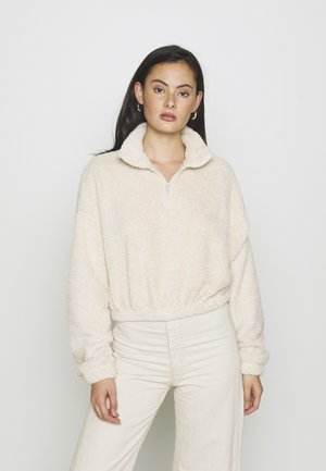FLUFFY - Fleece jumper - creme