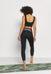 Nike Performance - NOVELTY 7/8 - Collants - black/purple smoke/dark smoke grey - 2