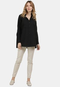 usha - BLUSE - Button-down blouse - schwarz - 1