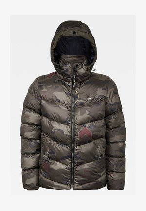 WHISTLER HOODED PUFFER - Winterjas - forest night circle camo