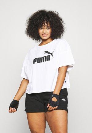 CROPPED LOGO TEE PLUS - T-shirt imprimé - white