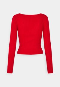 Weekday - PAOLINA V NECK - Pullover - red - 1