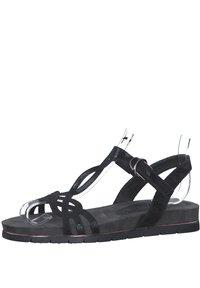 Tamaris - Platform sandals - blk snake metallic - 1