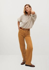 Mango - LOLA-I - Flared jeans - braun - 1