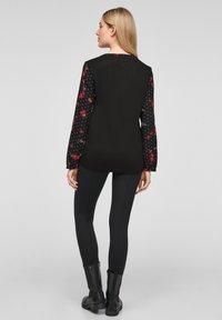 s.Oliver - Blouse - black floral aop - 2