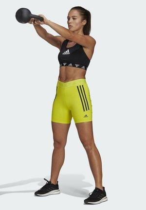 SPEED CREATION SHORTS - Pantalón corto de deporte - yellow