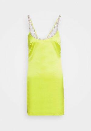 EMBELLISHED NECK DRESS - Vestido de cóctel - lime
