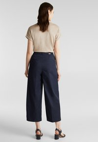 Esprit Collection - HIGH RISE CULOTTE - Trousers - navy - 2