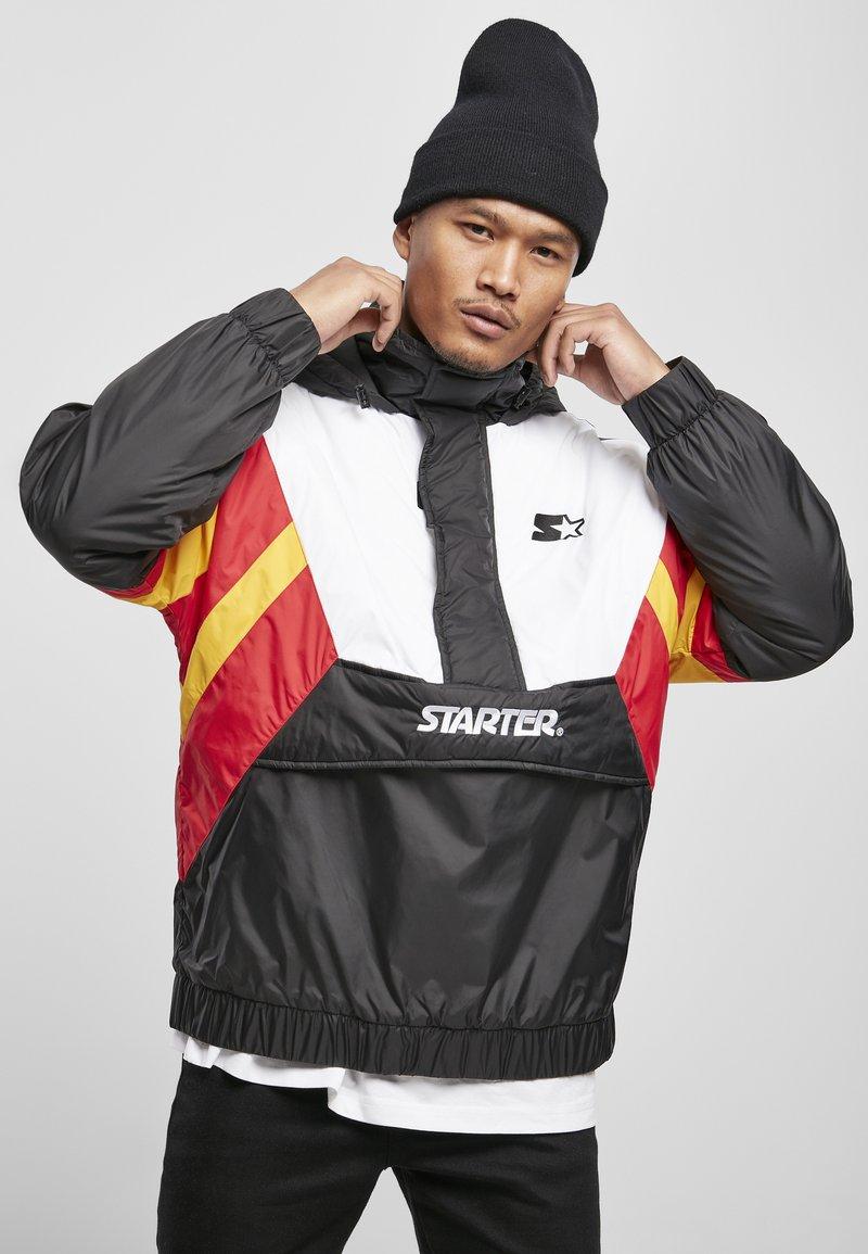 Starter - Outdoor jacket - blk/wht/starter red/golden