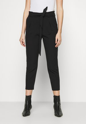 ONLFRESH PAPERBAG PANT  - Trousers - black