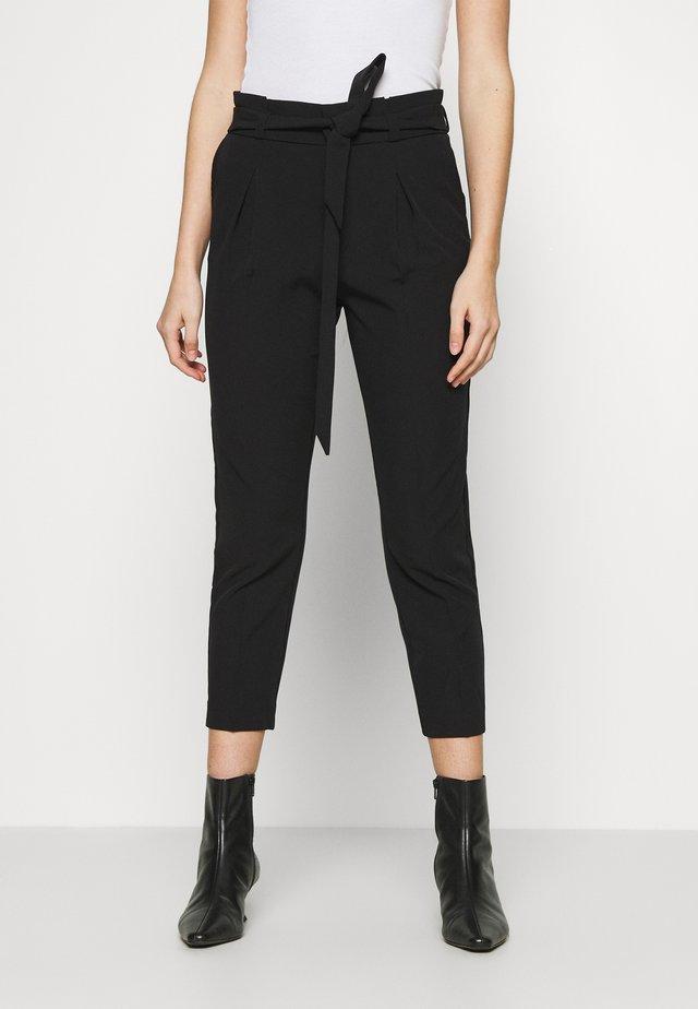 ONLFRESH PAPERBAG PANT  - Kalhoty - black